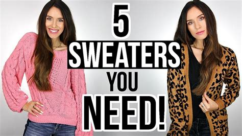 In Their Closet by 5 Sweaters Every Needs In Their Closet