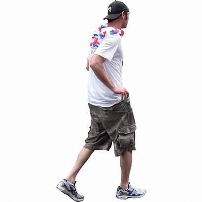 Guy Walking Cargo Entourage Shorts