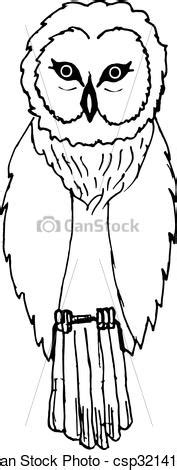 Hand draw a sketch in the style of an owl Vector Clipart