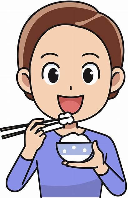 Eating Clipart Rice Eat Cartoon Clip Transparent