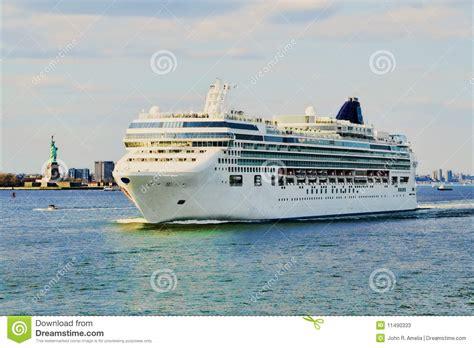 U Boat In Ny Harbor by Cruise Ship Leaving New York Harbor Stock Image Image