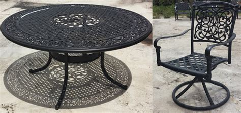 cast aluminum refinishing furniture repair sarasota
