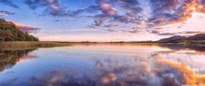 Wallpapers 3440 1440 Scotland Sunset Lake Ultrawide