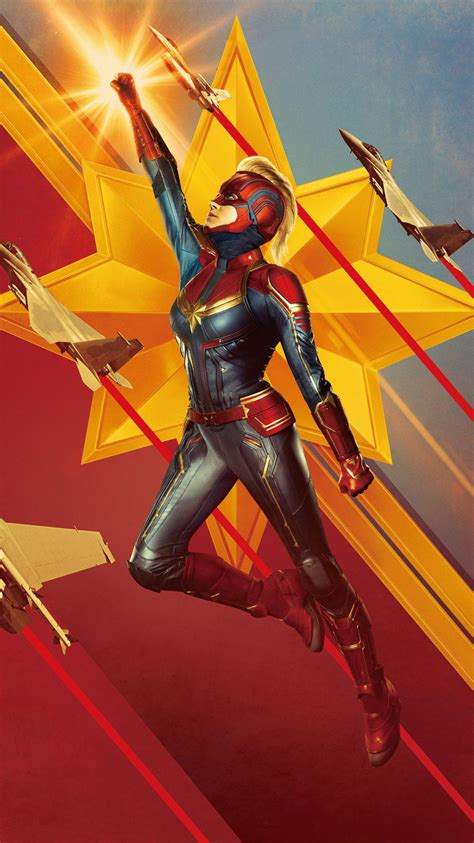 captain marvel  phone wallpaper moviemania