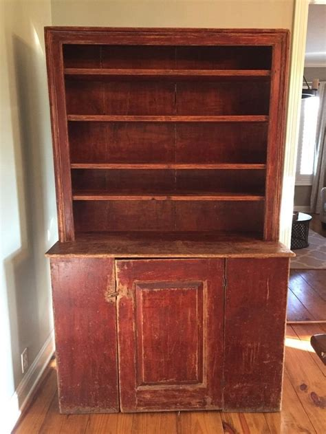 Primitive Cupboard by 18th C Original Painted Early American Antique