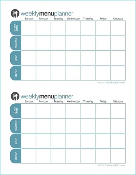 click print tpm customizable week menu planner peaceful mom