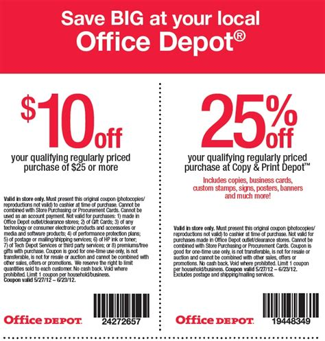 Office Depot Coupons For Printer office depot printable coupon expires june 23 2012