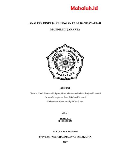 Skripsi ekonomi islam kualitatif pdf. Judul Skripsi