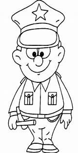 Coloring Pages Professions Cop Policeman Police Template Printable Popular Batch Getcolorings Coloringhome sketch template