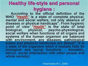 Healthy Lifestyle And Personal Hygiene  Psychohygiene