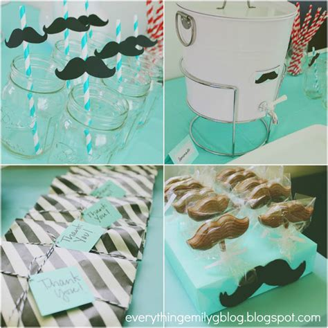 mustache themed baby shower decorations everything emily mustache bash baby shower