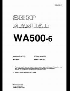 Komatsu Wheel Loaders Wa500