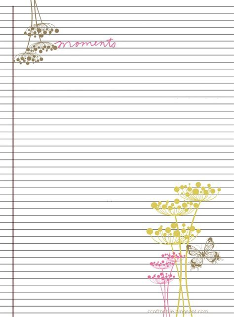 College ruled stationery free and printable Free