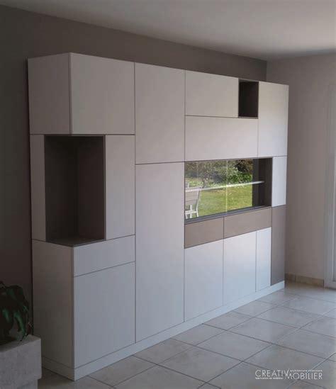 meuble vaisselier cuisine un meuble vaisselier buffet sur mesure creativ mobilier