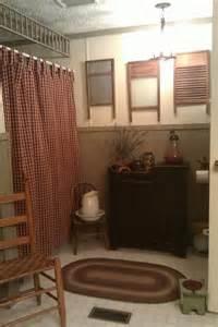 primitive bathroom wall decor