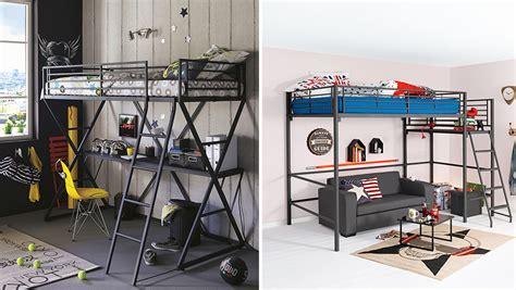 lit mezzanine avec bureau pour ado tete de lit chambre ado tete de lit papier peint chambre