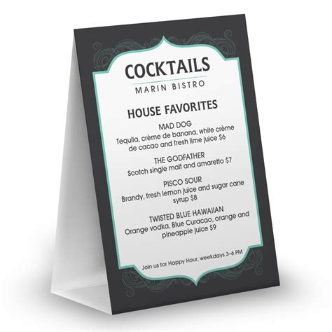 Table Restaurant Menu by Table Tents For Restaurants Musthavemenus