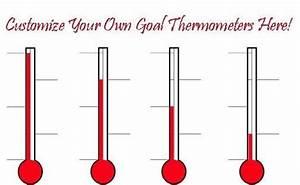 Fundraising Thermometer Excel Design Custom Goal And Fundraising Thermometers Online