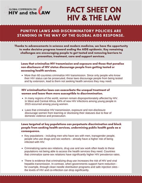 hiv fact sheet pdf elibrary global commission on hiv and the law