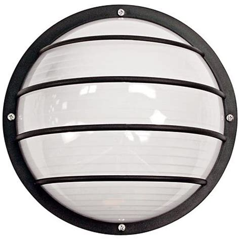 wave nautical led round black outdoor ceiling or wall