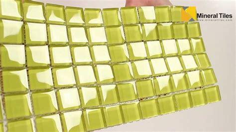 glass mosaic tile backsplash yellow 1x1 101chiglabr108