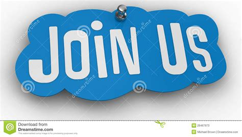 join in the join us website pin sign word stock illustration illustration 29467973