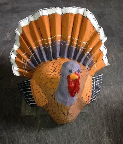 Turkey Paper Mache Thanksgiving Papier Animals Craft