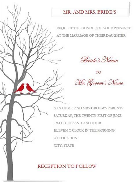 invitation card template word free free wedding invitation templates for microsoft word diy