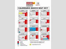 Calendario Laboral 2017 de SEAT Componentes