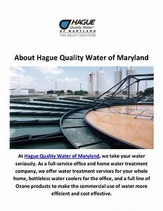 Hague Quality Water Treatment Plant In Annapolis  Maryland