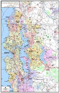 Seattle and Surrounding Area Map