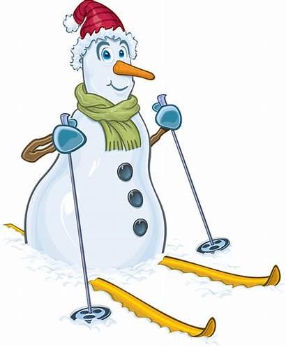Clipart Ski Snowman Skiing Winter Weihnachten Snow
