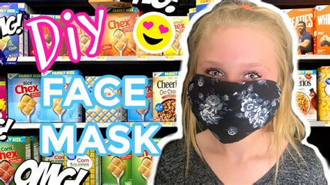 diy easy  sew face mask  minutes  filter
