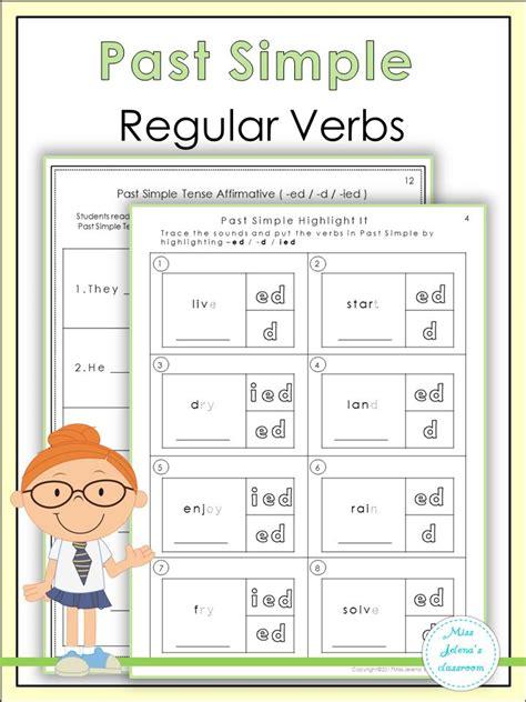 simple regular verbs simple  tense verb