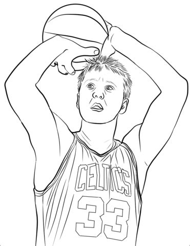larry bird coloring page  printable coloring pages
