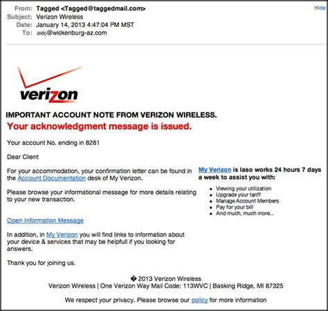 verizon wireless billing phone number verizon acknowledgement message scam an eclectic mind