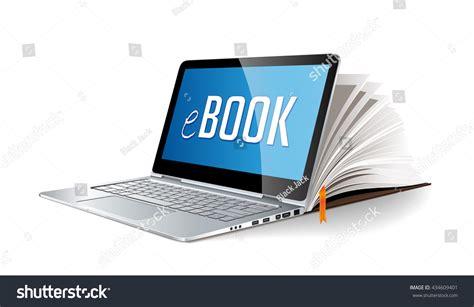 concept laptop  electronic book stock vector