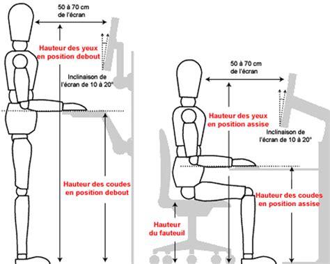position bureau position ergonomique bureau 28 images si 232 ges de