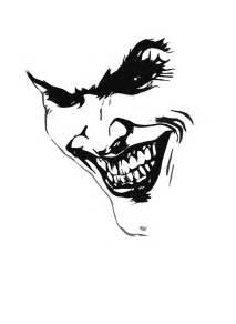 Black and White Joker Face Drawings