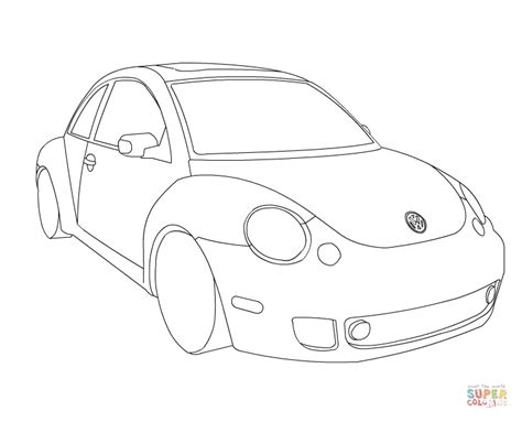 Kleurplaat Golf Gti by Vw Beetle Coloring Page Free Printable Coloring Pages