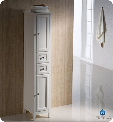 "Fresca Oxford 14"" Tall Linen Side Cabinet White Finish is"