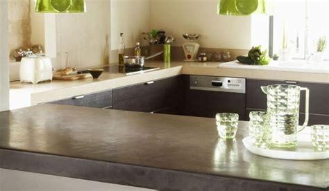 plan de travail en béton ciré cuisine cuisine en béton ciré le choix de l 39 originalité