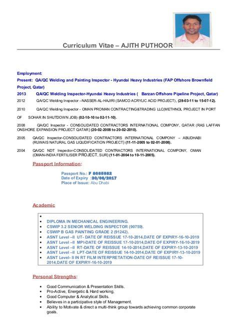 Qa Qc Inspector Ajith Cv  Copy. Sample Csr Resume. What Should Be A Resume Title. Rn Resumes Samples. Paramedic Sample Resume. Sample Resumes For College. Browse Resumes Free. Sample Resume Accounting. Telecom Resume Samples