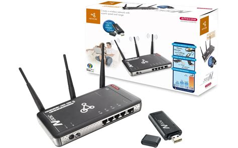 Sitecom Wl-541 Wireless Network Router 300n + Usb Adapter