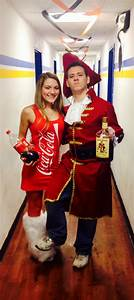 Creative halloween costume diy captain Morgan and coke ...