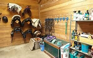 spring green cleaning  tack room  barn