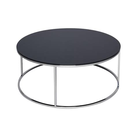 black and silver table ls buy black glass and metal circular coffee table from
