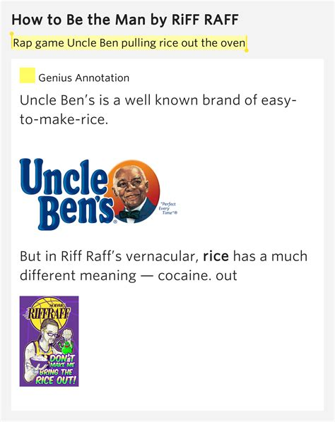Rap game Uncle Ben pulling rice out the oven - How to Be ...