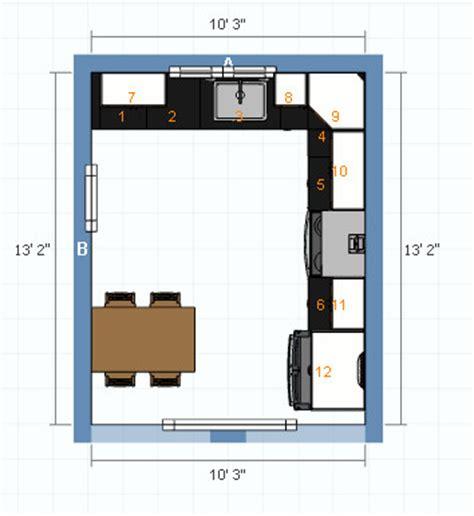 small eat  kitchen layout