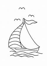 Sailboat Coloring Boat Pages Printable sketch template